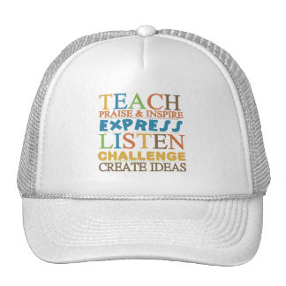 Teacher Words To Live Byy Mesh Hats