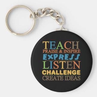 Teacher Words To Live Byy Key Chain