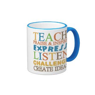 Teacher Words To Live Byy Mug