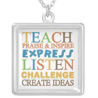 Teacher Words To Live Byy Custom Necklace