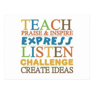 Teacher Words To Live Byy Postcard