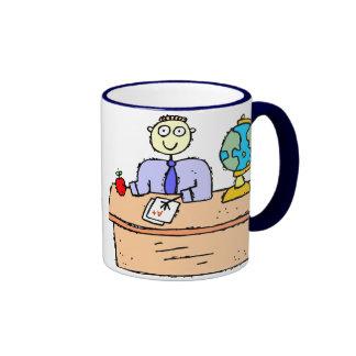 Teacher Working Ringer Mug