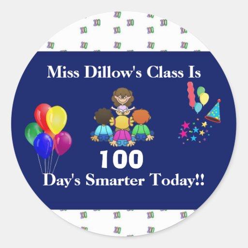 Teacher's 100 Day's of School Stickers