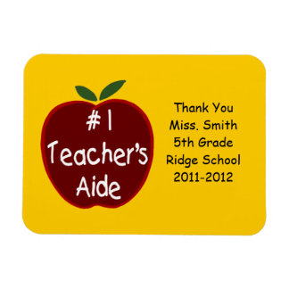 Teacher's Aide Magnet, with dedication Rectangular Photo Magnet