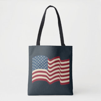 Teacher's American Flag Book Tote Beach Bag Gift