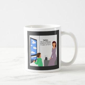 Teachers and Idiots Coffee Mugs