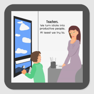 Teachers and Idiots Stickers