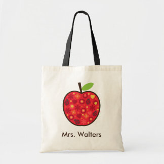 Teacher's Apple Budget Tote Bag