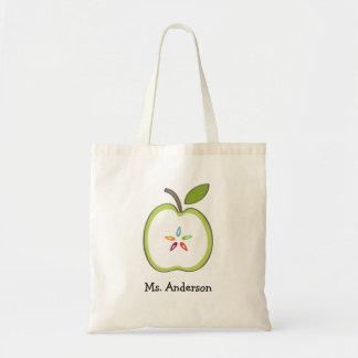 Teacher's Apple Canvas Tote Bag