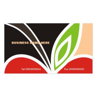 Teacher's Apple Heart Business Card-Peach Pack Of Standard Business Cards