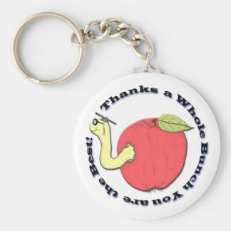 Teacher's Apple Keychain