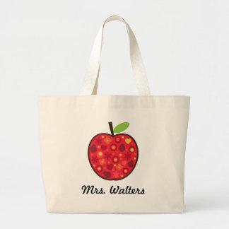 Teacher's Apple Large Tote Bag