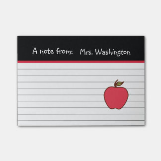 Teacher's Apple Post It Notes Post-it® Notes