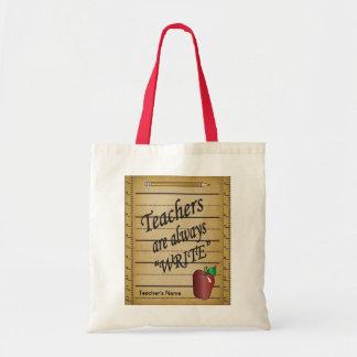 Teachers are always Write | DIY Name Budget Tote Bag