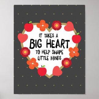 Teacher's Art: It Takes a Big Heart Poster