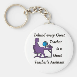 Teacher's Assistant Basic Round Button Key Ring