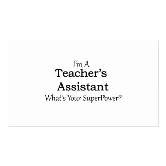 Teacher's Assistant Pack Of Standard Business Cards