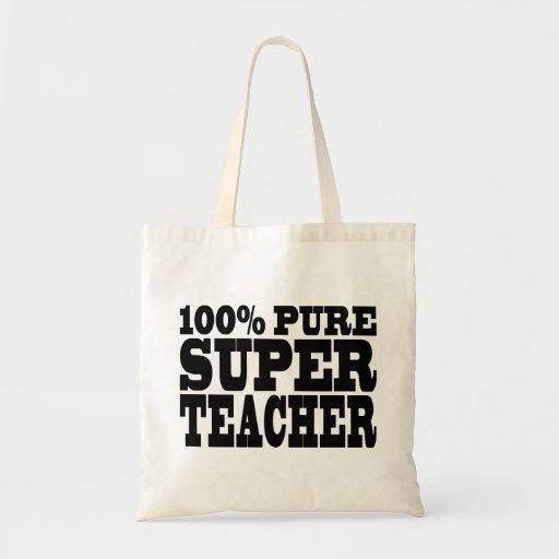 Teachers Birthday Parties 100% Pure Super Teacher Bag