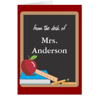 Teachers Blackboard Notecard