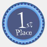 Teacher's Blue First Place Award Stickers