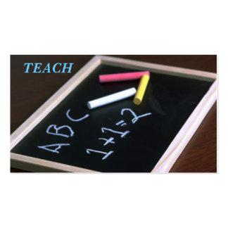 TEACHER'S BUSINESS CARD