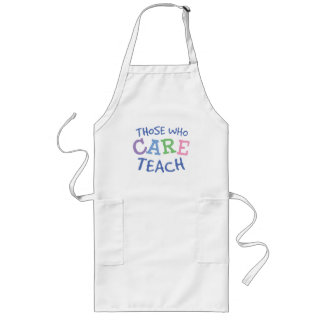 Teachers Care Long Apron