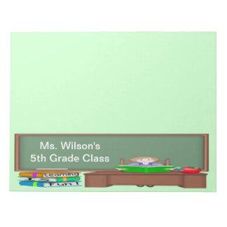 Teacher's Chalk Board Female Large Note Pad