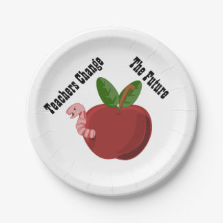 Teachers Change The Future Paper Plates 7 Inch Paper Plate