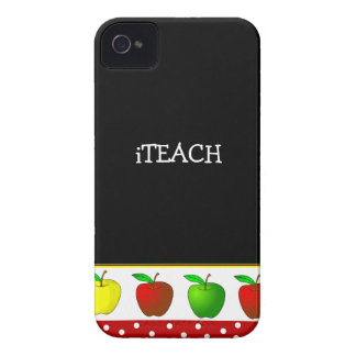 Teacher's Colorful Apples iPhone 4 Case