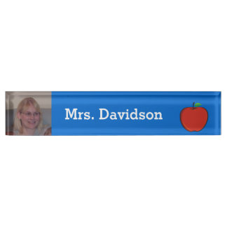 Teacher's Custom Photo Desk Name Plate
