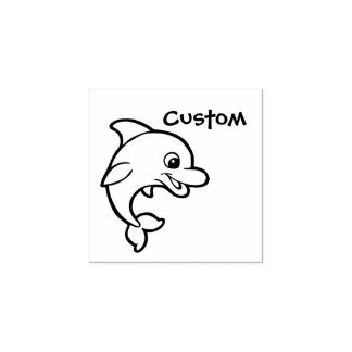 Teacher's customizable stamp - Cartoon Dolphin
