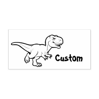 Teacher's customizable stamp - Cartoon T-Rex