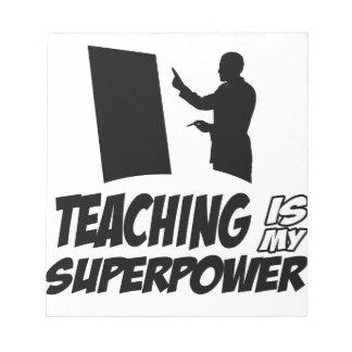 Teachers designs notepads