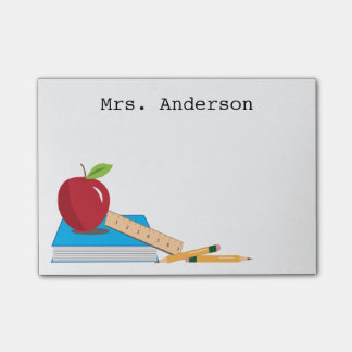 Teacher's Desk Personalized Sticky Note Pad Post-it® Notes