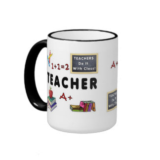 Teachers Do It With Class Ringer Mug