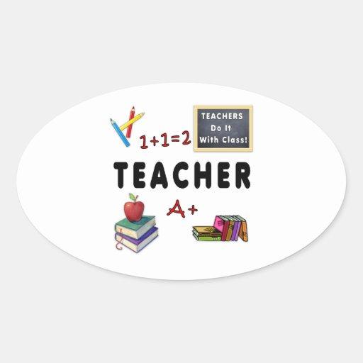 Teachers Do It With Class Oval Stickers