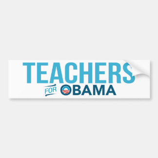Teachers For Barack Obama Bumper Sticker 2012