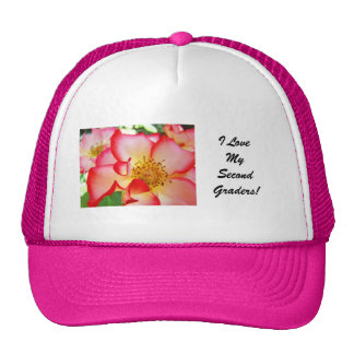 Teachers hat Rose Flowers Pink Second Graders