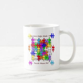 Teachers Help Make The Puzzle  Pieces Fit Basic White Mug