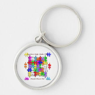 Teachers Help Make The Puzzle  Pieces Fit Silver-Colored Round Key Ring