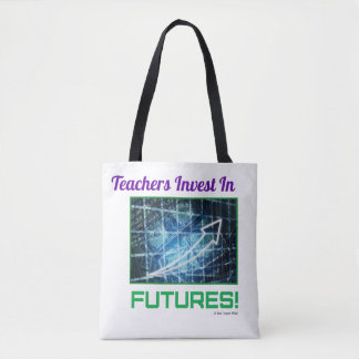 Teacher's Invest two tone tote bag.