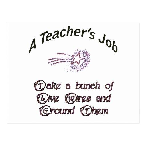 Teacher's job copy postcards