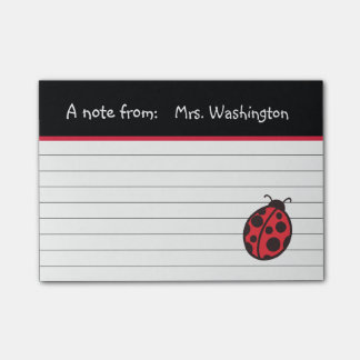 Teacher's Ladybug Post It Notes Post-it® Notes