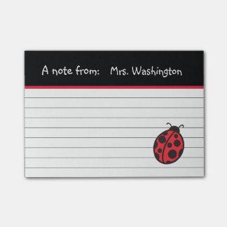 Teacher's Ladybug Post It Notes Gift