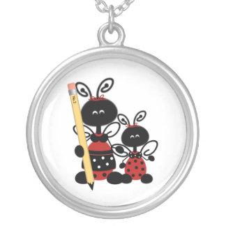 Teacher's Ladybugs Necklace