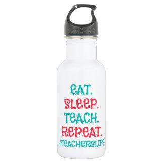 Teachers Life Water Bottle (18 oz), White 532 Ml Water Bottle