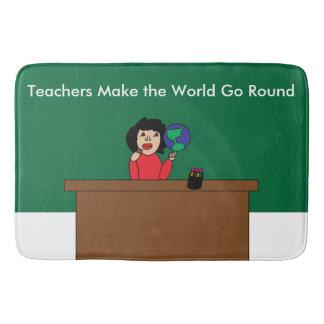 Teachers Make the World Go Round Bath Mats