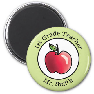 Teacher's Name Red apple Personalized Magnet
