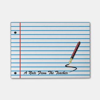 Teacher's Notebook Paper Post-It Note Pad