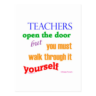 Teachers open the door postcards